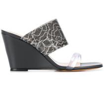 Wedge-Sandalen mit Print