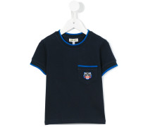 T-Shirt mit Tiger-Patch - kids - Baumwolle - 2
