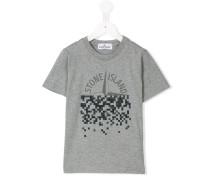 - T-Shirt mit pixeligem Logo-Print - kids