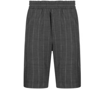 pinstripe virgin wool shorts