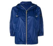 cropped hood jacket