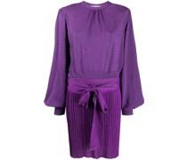 Lurex-Kleid mit Bindegürtel