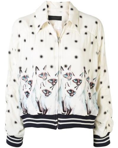 Jacke mit Katzen-Print