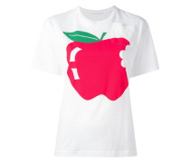 T-Shirt mit Apfel-Print - women - Baumwolle - XS