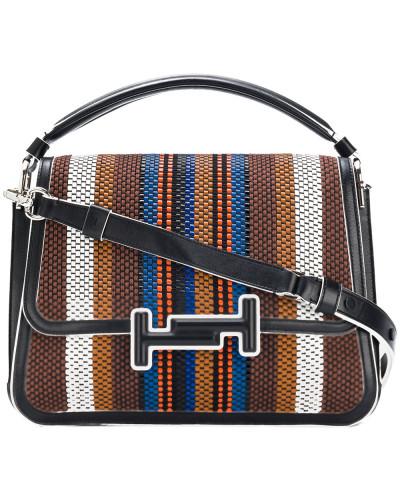 TOD'S Damen woven striped double T bag