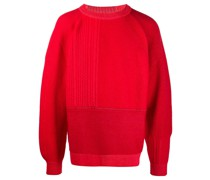 panelled ribbed jumper