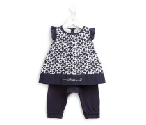 heart print top and trousers set