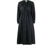 long-sleeve flared dress