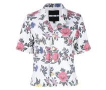 Kurzärmeliges Hemd mit Rosen-Print