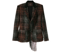 Tweed-Sakko mit Fransen