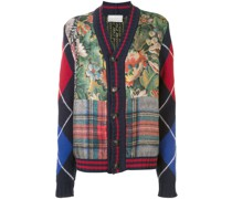 Cardigan mit Patchwork-Muster