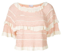 tiered frill knit top