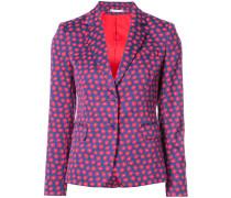 daisy print blazer