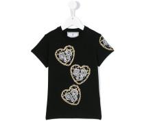 T-Shirt mit Logo-Herzen