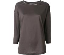 studded neck blouse