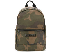 camouflage patch backpack