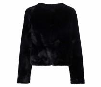 Cropped-Jacke mit Faux Fur