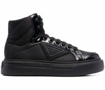 Macro High-Top-Sneakers aus Re-Nylon