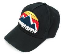 Distressed-Baseballkappe mit Logo-Patch