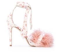 - Sandalen mit Flamingo-Muster - women - Leder