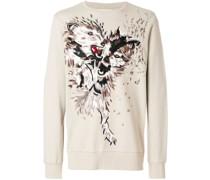 Sweatshirt mit Wolfs-Print