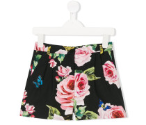 floral print tailored shorts