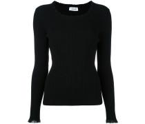 Gerippter Pullover mit gewellter Borte