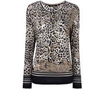 Langarmshirt mit Leoparden-Print
