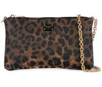 Mini Clutch mit Leoparden-Print