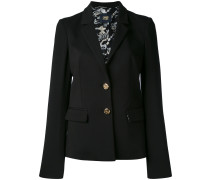 Enganliegende Jacke mit fallendem Revers
