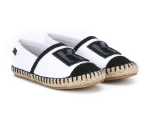 Espadrilles mit Logo-Patch - kids
