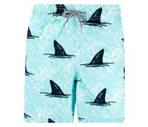 Badeshorts mit Hai-Print