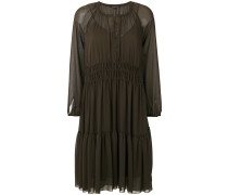 sheer gathered dress