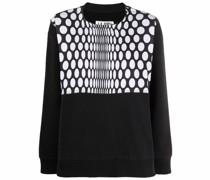 Sweatshirt mit Polka Dots