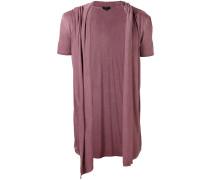 T-Shirt mit drapierter Weste - men - Viskose - S