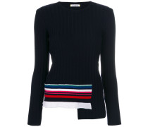 stripe trim knitted sweater