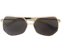 Sechseckige Pilotenbrille
