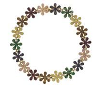 14kt 'Rainbow Daisy Eternity' Gelbgoldarmband