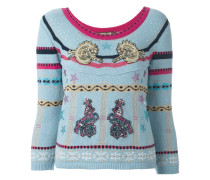 'circus' patches embellished pullover