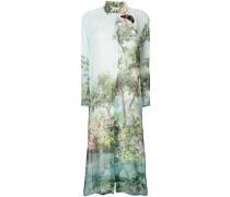 printed maxi shirt dress