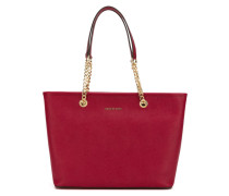 double chain straps tote