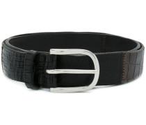 textured bucket belt