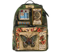 patch appliqued backpack