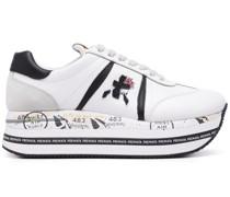 Flatform-Sneakers mit Einsätzen
