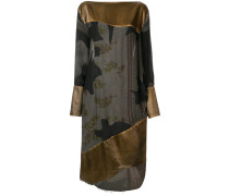 asymmetric panelled drape dress