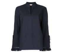 fringe sleeve blouse