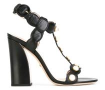 Verzierte Sandalen mit Blockabsatz - women