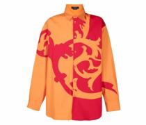 Oversized-Hemd mit Barocco-Motiv