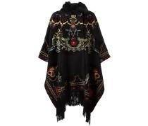jaquard fringed cape