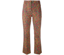floral print cropped trousers - women